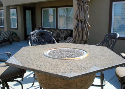 Fire and ice granite table