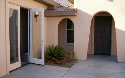 courtyard french doors